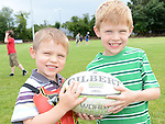 Ryan and Alan Martin pictured at Ardee Rugby club's Family Fun day. Photo:Colin Bell/pressphotos.ie