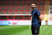 Sports scientist, Jordan Smith during the pre season friendly match between Exeter City and Swansea City at St James Park in Exeter, England, UK. Saturday, 20 July 2019