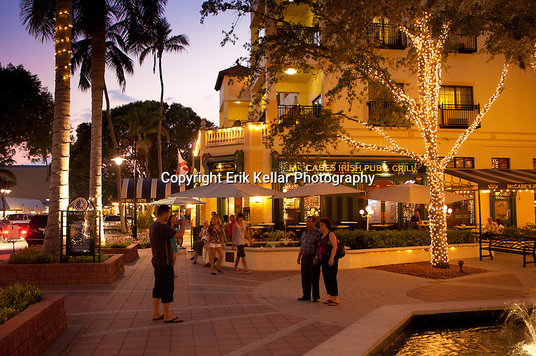 The Fifth Avenue South shopping district in Naples Fl. .  Erik Kellar Photography