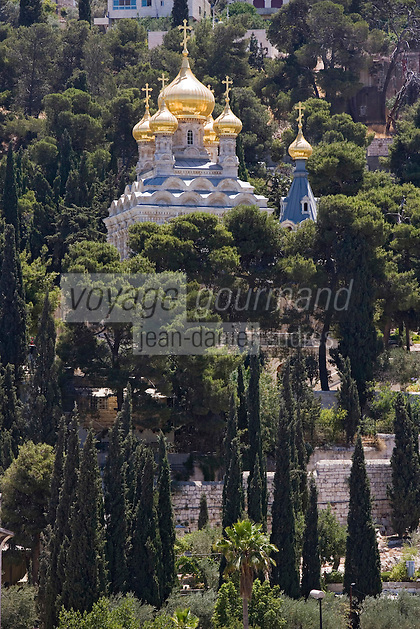 Asie/Israël/Judée/Jérusalem: Eglise russe orthodoxe de Sainte Marie Madeleine de Jérusalem