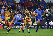 June 3rd 2017, NIB Stadium, Perth, Australia; Super Rugby; Force v Hurricanes;  Nehe Milner-Skudder of the Hurricanes passes the ball