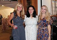 NWA Democrat-Gazette/CARIN SCHOPPMEYER Maren Dollwet (from left), Jackie Vander Ploeg and Stephanie Quillen enjoy Poker & Ponies.
