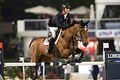 29th September 2017, Real Club de Polo de Barcelona, Barcelona, Spain; Longines FEI Nations Cup, Jumping Final; MAHER Ben (GBR) riding Quilata the final of the Nations Cup