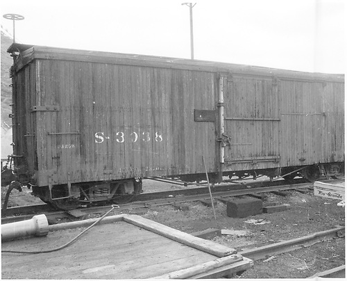 Side view of box car #3038.<br /> D&amp;RGW