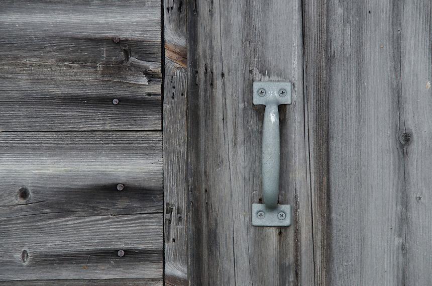 Door on Cabin, Upper Negro Island, Castine, Maine, US