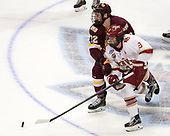 Jared Thomas (UMD - 22), Tyson McLellan (DU - 9) - The University of Denver Pioneers defeated the University of Minnesota Duluth Bulldogs 3-2 to win the national championship on Saturday, April 8, 2017, at the United Center in Chicago, Illinois.
