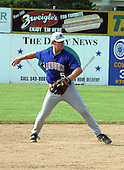 July 4, 2003:  Shortstop, first round draft pick, Aaron Hill (5) of the Auburn Doubledays, Class-A affiliate of the Toronto Blue Jays, during a game at Dwyer Stadium in Batavia, NY.  Photo by:  Mike Janes/Four Seam Images