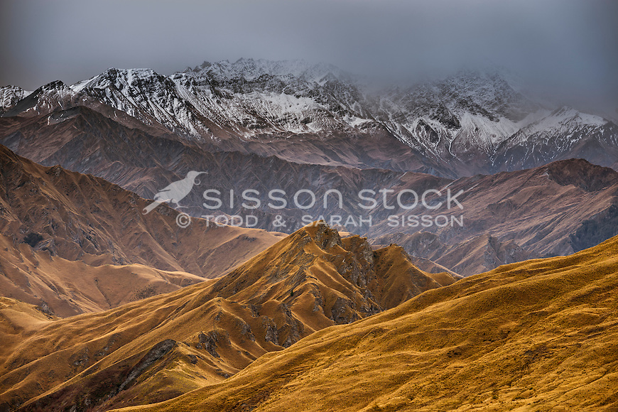 Skippers Canyon, Queenstown, New Zealand - stock photo, canvas, fine art print