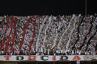 SÃO PAULO, SP, 03 DE JULHO DE 2013 - RECOPA SULAMERICANA - SÃO PAULO x CORINTHIANS: Torcida do São Paulo durante partida São Paulo x Corinthians, válida Recopa Sulamericana, disputada no estádio do Morumbi em São Paulo. FOTO: LEVI BIANCO - BRAZIL PHOTO PRESS.