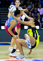 Aliyah Dunn in action during the ANZ Championship netball match between the Central Pulse and Southern Steel at TSB Bank Arena in Wellington, New Zealand on Monday, 25 March 2019. Photo: Mike Moran / lintottphoto.co.nz
