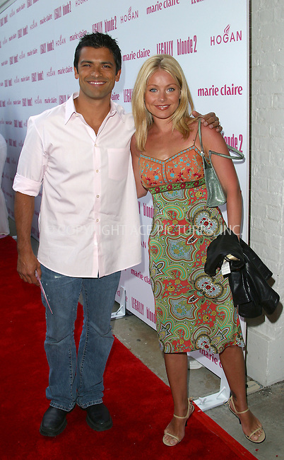 "Kelly Ripa and husband Mark arriving at the premiere of ""Legally Blonde 2: Red White & Blonde"" in Southampton, New York, June 28, 2003. Please byline: NY Photo Press.   ..*PAY-PER-USE*      ....NY Photo Press:  ..phone (646) 267-6913;   ..e-mail: info@nyphotopress.com"