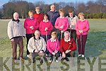 Castlerosse Golf club members had a frosty morning for their Captain's drive on Sunday front row l-r: Mike Ryan Captain, Brid Scannell Lady Captain, Mick Clifford President. Back row: Donal O'Reilly, Kathleen Lynch, Denis Tangney, Noreen Sheehan, Jim Delaney, Kay Spillane, John O'Connell and Olive Sheehy.