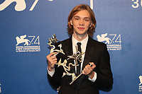 Charlie Plummer at the Award winners Photocall of the 74th Venice Film Festival at Sala Grande on September 9, 2017 in Venice, Italy.<br /> CAP/GOL<br /> &copy;GOL/Capital Pictures
