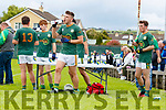 Finuge players at halftime in the 2020 Kerry Petroleum Junior Premier Club Championship at Connolly park, Tralee, on Sunday.