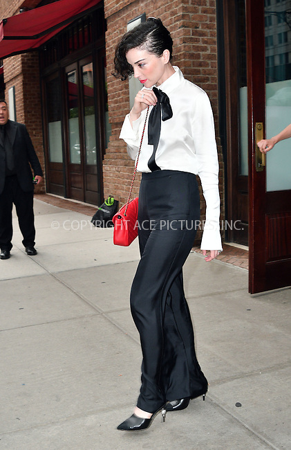 www.acepixs.com<br /> <br /> August 1 2016, New York City<br /> <br /> Singer Annie Clark, aka St Vincent leaves a downtown hotel on August 1 2016 in New York City<br /> <br /> By Line: Curtis Means/ACE Pictures<br /> <br /> <br /> ACE Pictures Inc<br /> Tel: 6467670430<br /> Email: info@acepixs.com<br /> www.acepixs.com