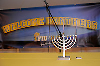 20 December 2011:  FIU setup a menorah for a candle lighting ceremony in observance of the first night of Chanukah.  The Marshall University Thundering Herd defeated the FIU Golden Panthers, 20-10, to win the Beef 'O'Brady's St. Petersburg Bowl at Tropicana Field in St. Petersburg, Florida.