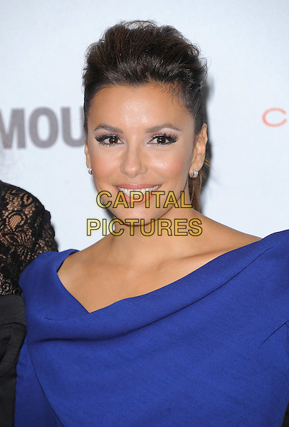 Eva Longoria .The Glamour Reel Moments held at The Directors Guild of America in West Hollywood, California, USA..October 24th, 2011.headshot portrait blue.CAP/RKE/DVS.©DVS/RockinExposures/Capital Pictures.