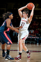 STANFORD, CA - JANUARY 6: Sara James at Maples Pavilion, January 6, 2011 in Stanford, California.