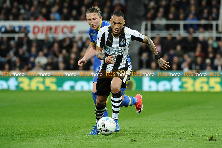 Yoan Gouffran of Newcastle United during Newcastle United vs Leeds United, Sky Bet EFL Championship Football at St. James' Park on 14th April 2017