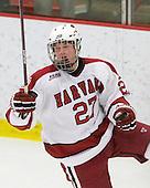 Michael Biega (Harvard - 27) - The Boston College Eagles defeated the Harvard University Crimson 3-2 on Wednesday, December 9, 2009, at Bright Hockey Center in Cambridge, Massachusetts.