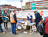 Junior Doctors Strike <br /> picket at St George's Hospital, Tooting, London, Great Britain <br /> 26th April 2016 <br /> <br /> Dr's outside St George's Hospital <br /> the table nearly collapsed due to the weight of all the gifts of food and drink patients and public were leaving for the doctors. <br /> <br /> Photograph by Elliott Franks <br /> Image licensed to Elliott Franks Photography Services