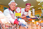 Jerry Hannafin and Dinny O'Regan at the Fresh Fish Counter at Garvey's Tralee Fresh Fish Counter on Friday.