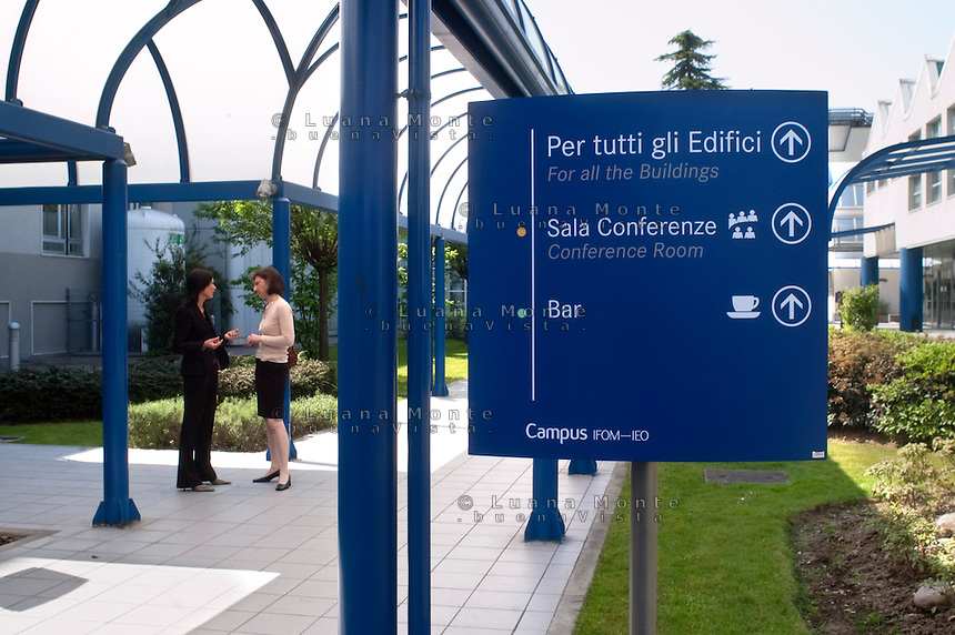 .- Milano, Campus IFOM IEO, dipartimento dell'Istituto Europeo di Oncologia..- Milan, Campus IFOM IEO, a branch of European Institute of Oncology created by Umberto Veronesi.