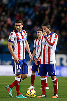 Gabi and Koke of Atletico de Madrid during La Liga match between Atletico de Madrid and Villarreal at Vicente Calderon stadium in Madrid, Spain. December 14, 2014. (ALTERPHOTOS/Caro Marin) /NortePhoto