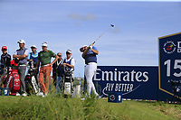 Tyrrell Hatton (ENG) tees off the 15th tee during Thursday's Round 1 of the Dubai Duty Free Irish Open 2019, held at Lahinch Golf Club, Lahinch, Ireland. 4th July 2019.<br /> Picture: Eoin Clarke | Golffile<br /> <br /> <br /> All photos usage must carry mandatory copyright credit (© Golffile | Eoin Clarke)