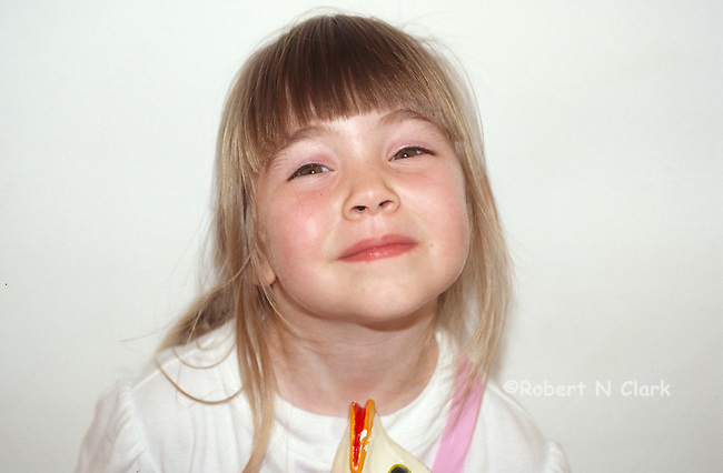Girl smiling ar camera