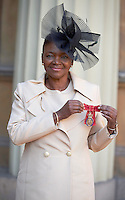 27 October 2016 - London, England - Baroness Valerie Amos after receiving her Member of the Order of the Companion of Honour at Buckingham Palace in London. Photo Credit: Alpha Press/AdMedia