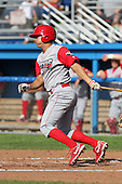 Williamsport Crosscutters infielder Jeff Cusick (39) during a game vs the Batavia Muckdogs at Dwyer Stadium in Batavia, New York July 25, 2010.   Batavia defeated Williamsport 8-1.  Photo By Mike Janes/Four Seam Images