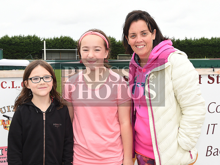 Sarah Carraig, Caoimhe Brady and Grainne Collins at the Oliver Plunketts Family Fun Day. Photo:Colin Bell/pressphotos.ie