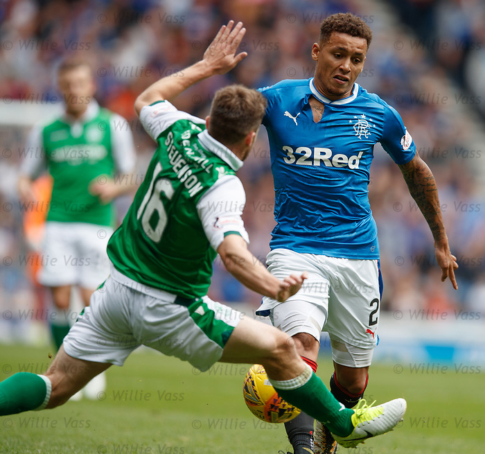 James Tavernier with ripped shirt