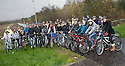 School pupils from Holland join pupils from Bo'ness Academy as they set out on their cycle tour around the Helix Path Network.