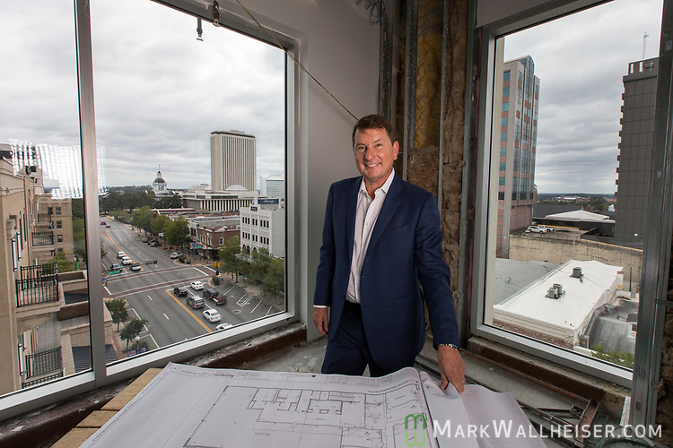 Brian Ballard with Ballard Partners in his new office under construction in downtown Tallahassee, Florida.