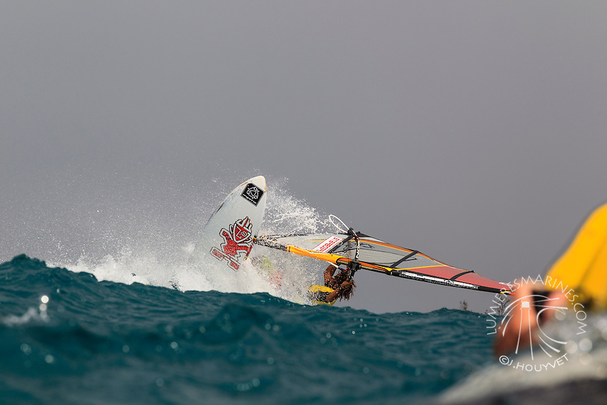 Boujmaa Guilloul at the 6th and final stop of the 2012 American Windsurfing Tour (AWT), in Ho'okipa Beach Park (Maui, Hawaii, USA)