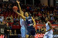 GRONINGEN - Basketbal, Donar - Weert, Dutch Baketball League, seizoen 2018-2019, 07-10-2018, score van Donar speler Sean Cunningham