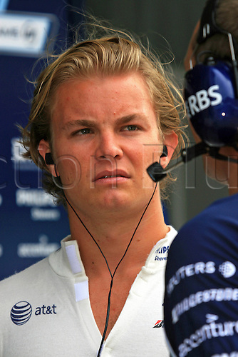 29 March 2007: Portrait of German Williams driver Nico Rosberg  during a Formula 1 Testing Session at Sepang International Circuit in Malaysia. Photo: Hazrin Yeob Men Shah/action plus..motor 070329 f1