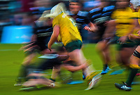 Action from the 2017 International Women's Rugby Series rugby match between the NZ Black Ferns and Australia Wallaroos at Rugby Park in Christchurch, New Zealand on Tuesday, 13 June 2017. Photo: Dave Lintott / lintottphoto.co.nz