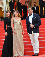 CANNES, FRANCE. May 25, 2019: jennifer Flavin, Sylvester Stallone & Sistine Rose Stallone  at the Closing Gala premiere of the 72nd Festival de Cannes.<br /> Picture: Paul Smith / Featureflash