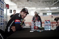 race winner John Degenkolb (DEU/Giant-Alpecin) at the press conference<br /> <br /> 113th Paris-Roubaix 2015