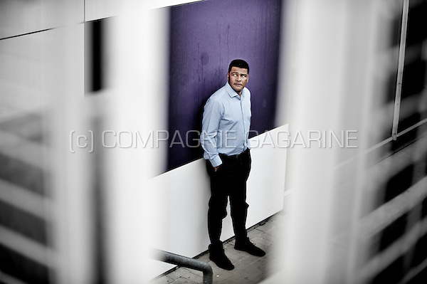 Retired Belgian footballer Dimitri Mbuyu, now scout of the RSCA Anderlecht football club (Belgium, 26/06/2014)