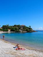 Capo Scandelli und Strand, Cavo, Elba, Region Toskana, Provinz Livorno, Italien, Europa<br /> Capo Scandelli and beach, Cavo, Elba, Region Tuscany, Province Livorno, Italy, Europe
