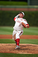 Tanner Burns (9) of Decatur High School in Decatur, Alabama during the Under Armour All-American Game presented by Baseball Factory on July 23, 2016 at Wrigley Field in Chicago, Illinois.  (Mike Janes/Four Seam Images)