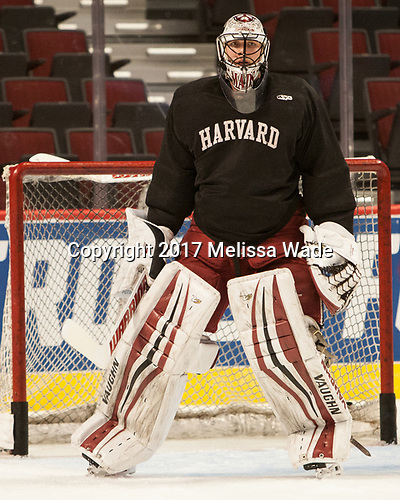 Merrick Madsen (Harvard - 31) - The Harvard University Crimson practiced at the United Center on Wednesday, April 5, 2017, in Chicago, Illinois.