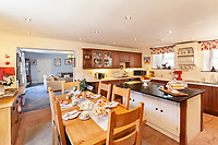 BNPS.co.uk (01202 558833)<br /> Pic: JacksonStops/BNPS<br /> <br /> Surf and turf..<br /> <br /> A farmhouse close to one of Britain's best surfing beaches has gone on the market for £1.7m.<br /> <br /> South Hole Farm is on the outskirts of the surfer's paradise of Croyde in Devon.<br /> <br /> The Grade II listed farmhouse, its three outbuildings and nine acres of land, are tucked away from the tourists and surfers who flock to the seaside town every year.