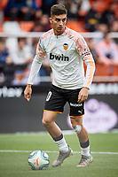 9th November 2019; Mestalla, Valencia, Spain; La Liga Football,Valencia versus Granada; Ferran Torres of Valencia CF warms up prior to the game - Editorial Use