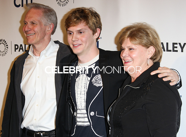 "HOLLYWOOD, LOS ANGELES, CA, USA - MARCH 28: Phil Peters, Evan Peters, Julie Peters at the 2014 PaleyFest - ""American Horror Story"" held at the Dolby Theatre on March 28, 2014 in Hollywood, Los Angeles, California, United States. (Photo by Celebrity Monitor)"