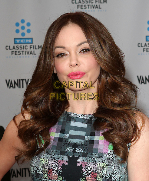 Rose McGowan.2012 TCM Classic Film Festival Opening Night Gala Held at Grauman's Chinese Theatre, Hollywood, California, USA..April 12th, 2012.headshot portrait lipstick blue green silver print pink .CAP/ADM/KB.©Kevan Brooks/AdMedia/Capital Pictures.